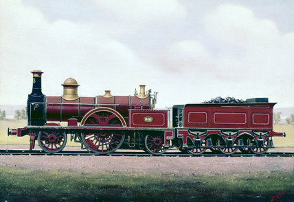 2-2-2 expres locomotive, no 373, 1861.
