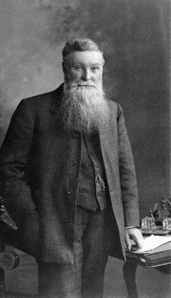 John Dunlop, Scottish inventor, c 1890.