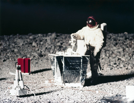 Practising lunar surface activities, 1968.