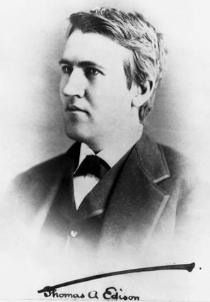 Thomas Edison, American inventor, c 1880.