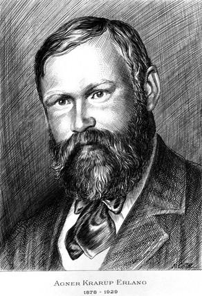 Agner Krarup Erlang, Danish mathematician, c 1915.