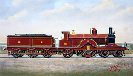 Midland Railway single expres locomotive no 116, 1898.