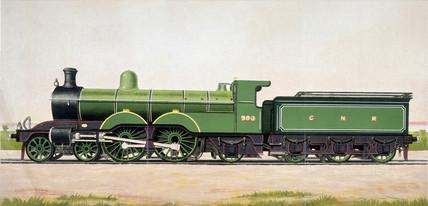 Great Northern Railway expres locomotive No 990, 1898.