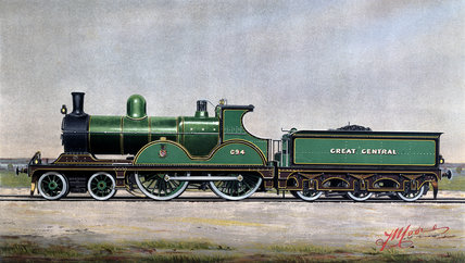 Great Central Railway Standard Expres Locomotive No 694, c 1900.