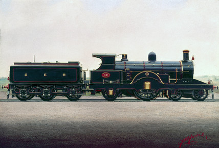 Great Eastern Railway 4-2-2 locomotive No 10, c 1900.