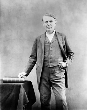 Thomas Edison, American inventor, 1893.