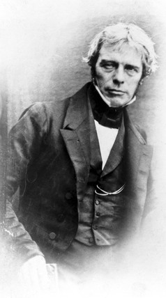 Michael Faraday, English physicist., c 1840.