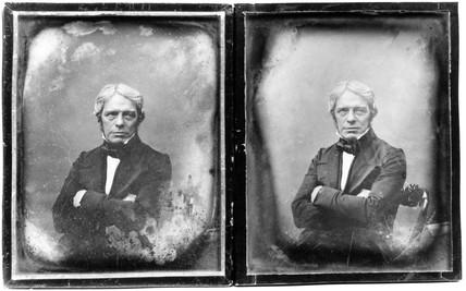 Michael Faraday, English physicist, c 1840.