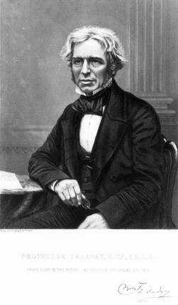 Michael Faraday , English physicist, c 1845.