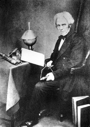 Michael Faraday, English physicist, c 1855.