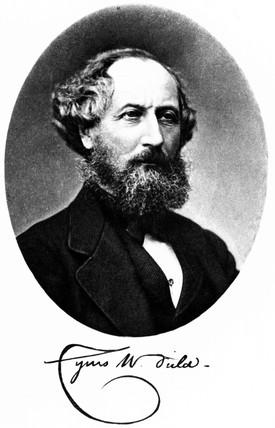 Cyrus W Field, American financier and entrepreneur, c 1875.