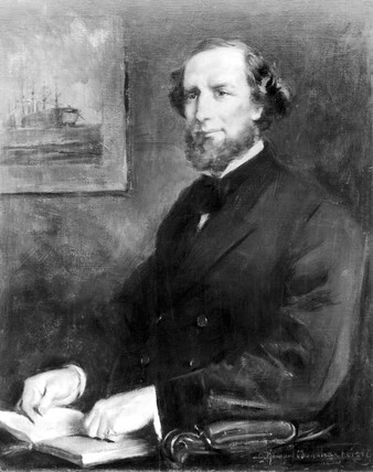 Cyrus W Field, American financier and entrepreneur, c 1870.