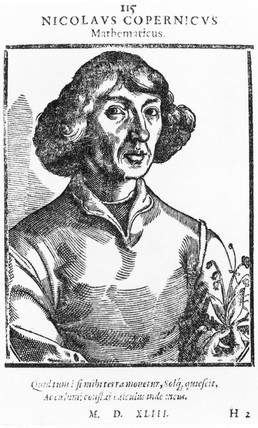Nicolaus Copernicus, Polish astronomer, 1543.