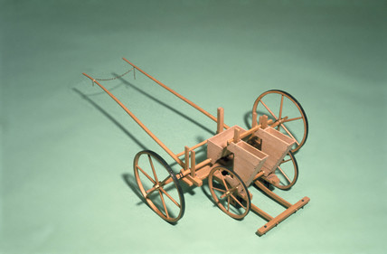Jethro Tull's seed drill, 1701.