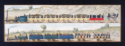 'Travelling on the Liverpool and Manchester Railway', 1831.