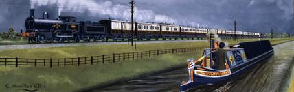 L&NWR northbound tourist expres train, Warwickshire, 1875.