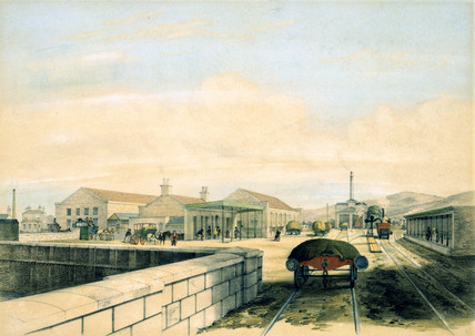 Rochdale Station, Lancashire, 1845.