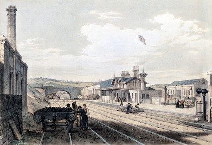 Brighouse Station, West Yorkshire, 1845.