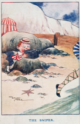 The Sniper, postcard, 1918.