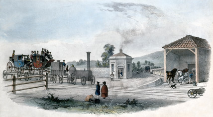 Abingdon Road Station, Oxfordshire, 1844.
