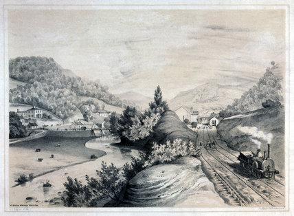 Hebden Bridge Station, West Yorkshire, 1845.