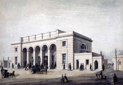 Nine Elms Station, London, 1838-1848.