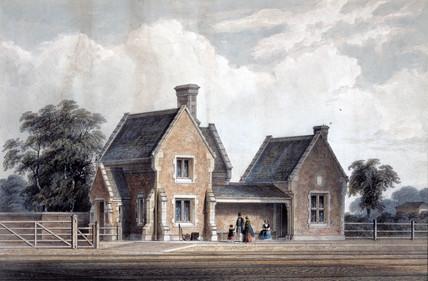 Lenton Station, Lincolnshire, 19th century.