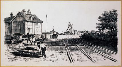 Warrington Junction, London & North Western Railway, 1848.