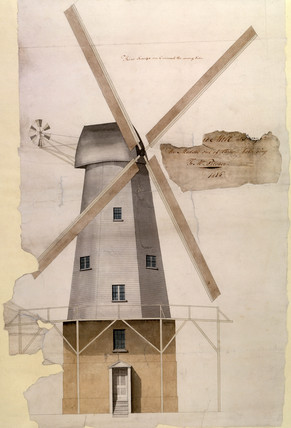'Mr Pilcher's Windmill at Margate', Kent, 1816.