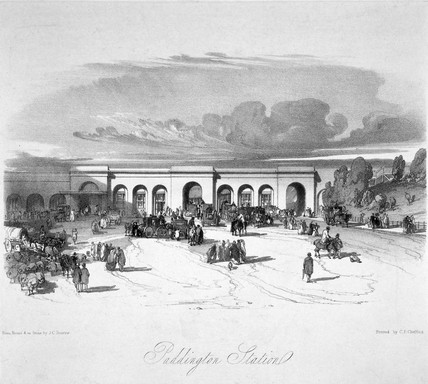 Paddington Station, London, 1846.