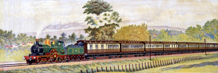 The 'Cornishman' expres train hauled by 'Lord of the Isles' locomotive, 1899.