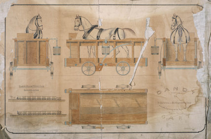 Dandy cart, Stockton & Darlington Railway, 1825.
