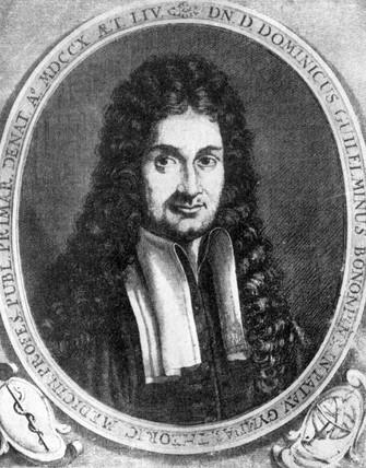 Domenico Guglielmini, Italian medical pioneer, 17th century.