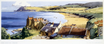 Robin Hood's Bay, Yorkshire, BR (NER) carriage print, 1948-1965.