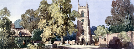 Ufford, near Melton, Suffolk, BR (ER) carriage print, 1948-1965.