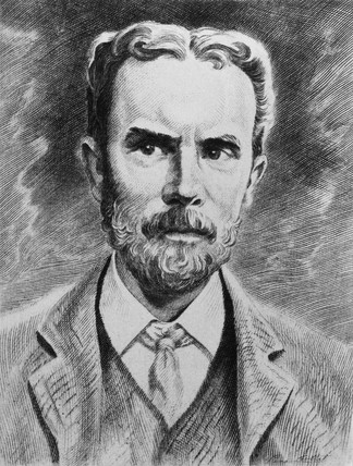 Oliver Heaviside, English physicist, c 1900.