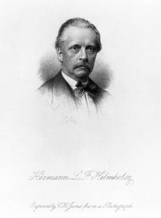 Herman Von Helmholtz, German physicist, c 1860.