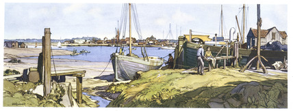 Brightlingsea, Essex. BR(ER) carriage print