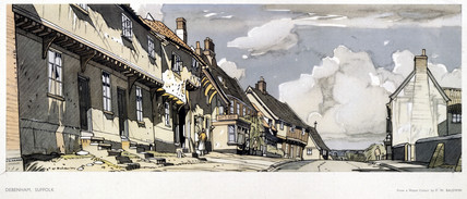 Debenham, Suffolk, BR (ER) carriage print, 1948-1965.