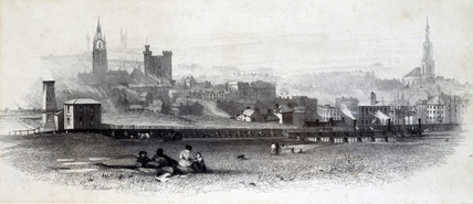 The Brandling Junction Railway, Newcastle-Upon-Tyne, c 1840.