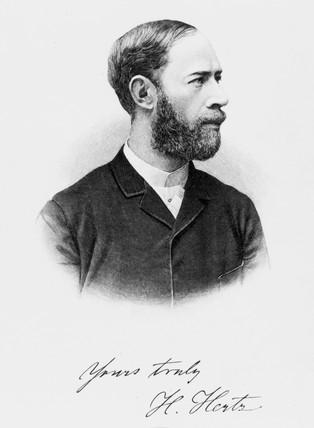 Heinrich Hertz, German physicist, 1894.