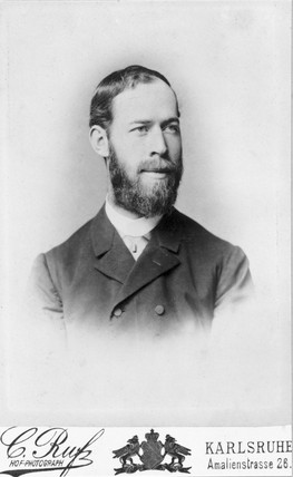 Heinrich Hertz, German physicist, 1886.