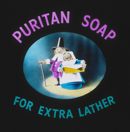 'Puritan Soap for Extra Lather', advertisement, 1940-1950.