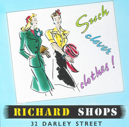 'Richards Shops - Such Clever Clothes', advertisement, c 1960.
