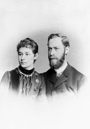 Heinrich Hertz , German physicist, with his wife Elizabetth, 1886.