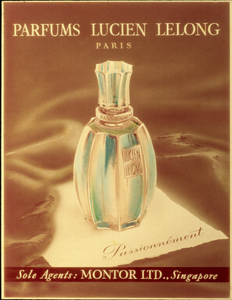'Pasionnement' perfume, poster advertisement, early 20th century.