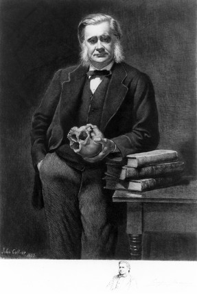 Profesor Thomas Henry Huxley, English biologist, 1885.
