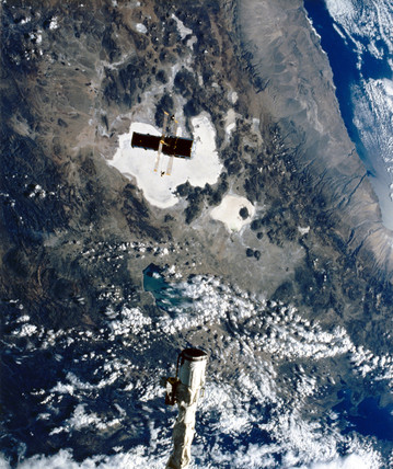 Deployment of the Hubble Space Telescope, 1990.