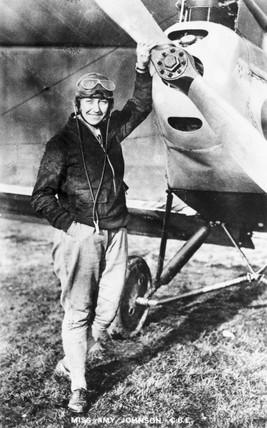 Amy Johnson, English aviator, c 1930s.