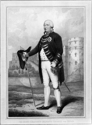 King George III, King of Great Britain, c 1800.